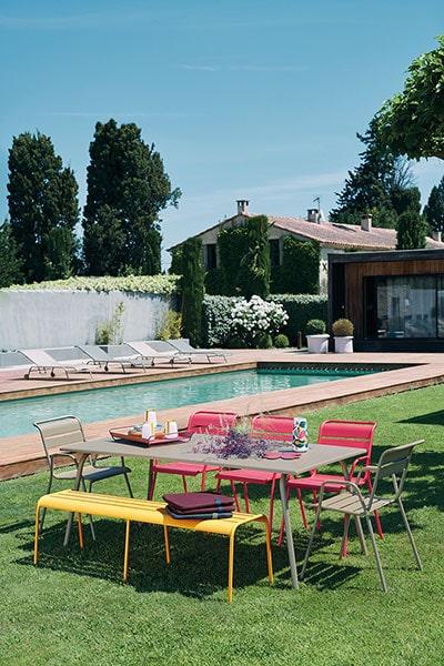 table de jardin Monceau - idée d'aménagement extérieur Fermob