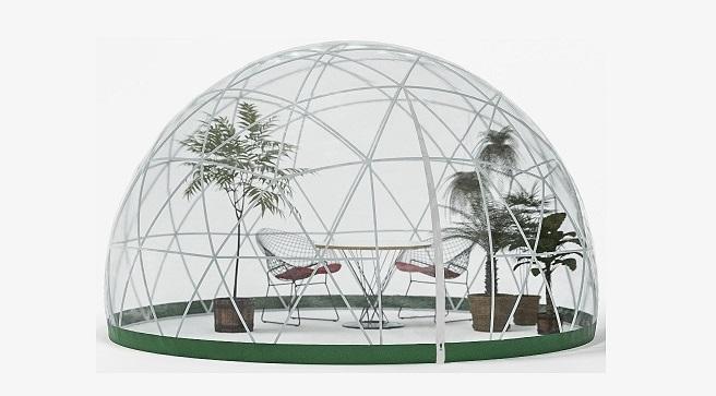 Abri bulle de jardin Garden Igloo en forme de Dôme pour couvrir une table ou un spa