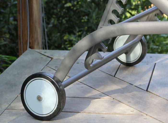 Lit bain de soleil alto proloisirs roues