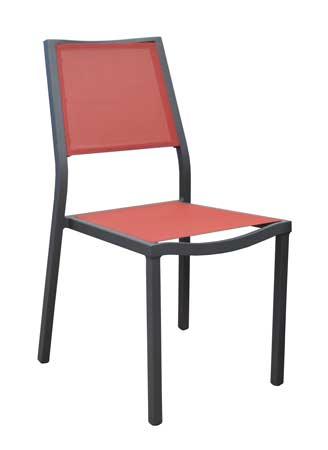 salon de jardin Tahaa 180-240 alizé chaises florence rouges