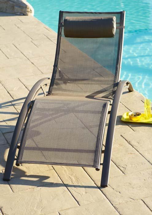 Lot de 2 bains de soleil DCB Multi-position aluminium