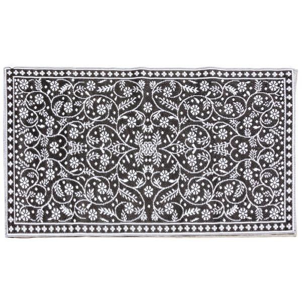 Tapis d'extérieur 120 x 180 cm Blanc & Noir Herstera Garden NANTES