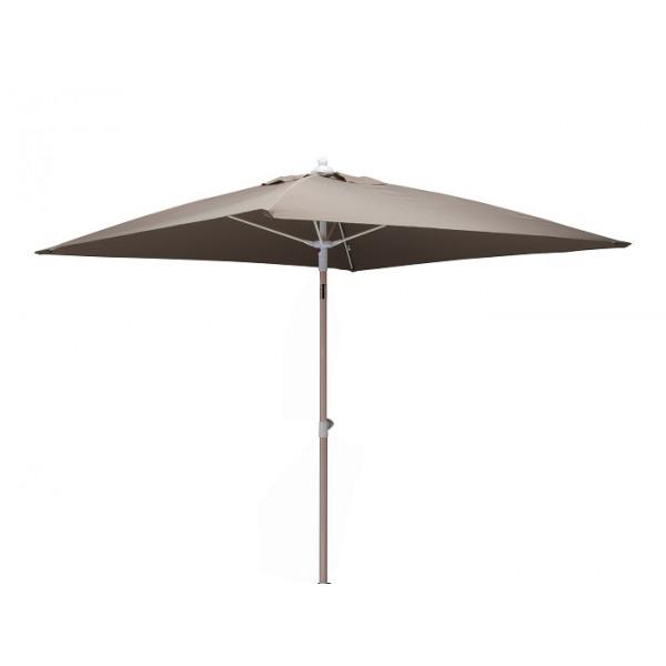 Parasol inclinable 2x2m en aluminium PROLOISIRS Fibre de Verre-Taupe