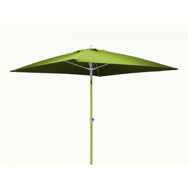 Parasol inclinable 2x2m en aluminium PROLOISIRS Fibre de Verre-Vert