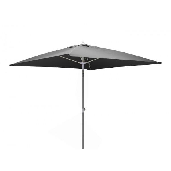 Parasol inclinable 2x2m en aluminium PROLOISIRS Fibre de Verre-Gris