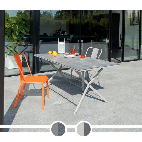 Table de jardin PROLOISIRS Azuro 160 x 78 cm