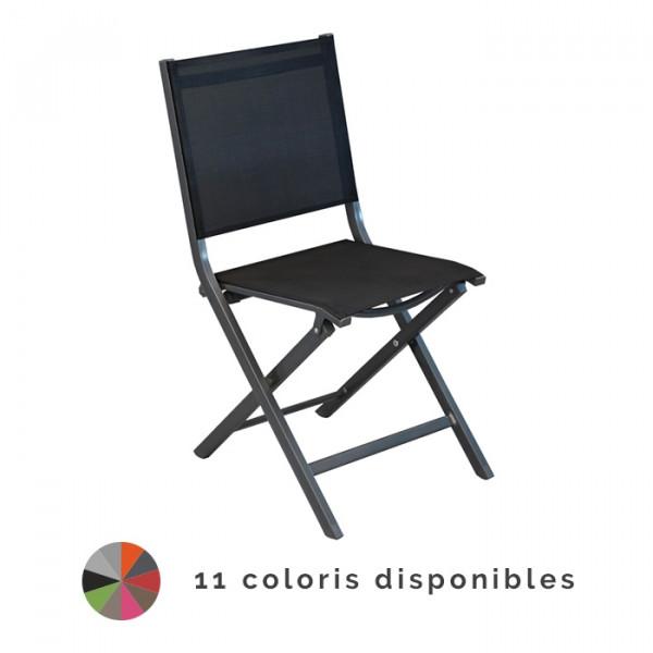 Chaise de jardin pliante Alizé Thema