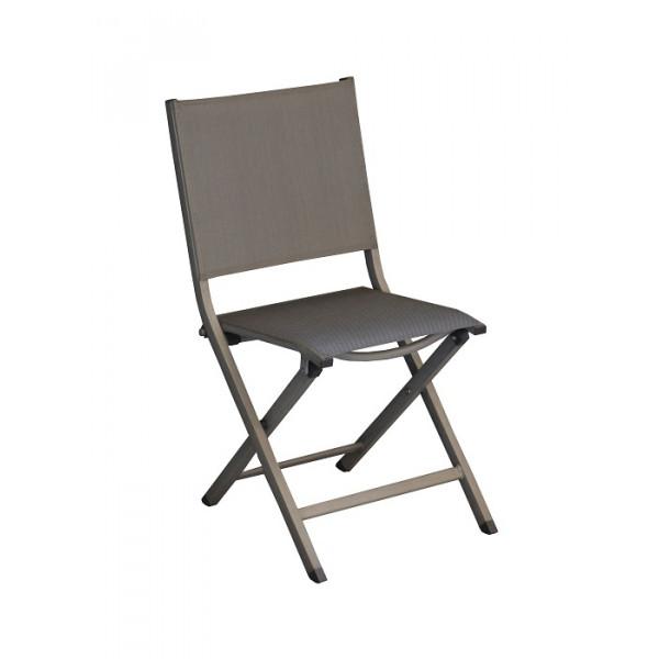 Chaise de jardin pliante PROLOISIRS Thema (finition brush)