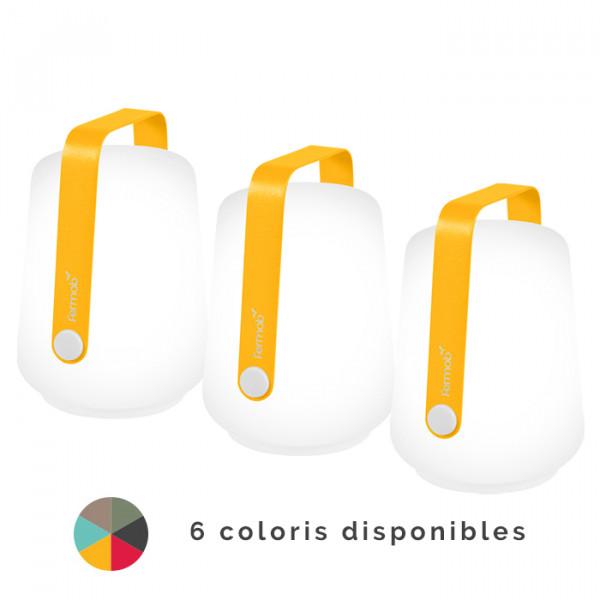 Lot de 3 lampes nomades Fermob Balad Gris Orage h12 cm