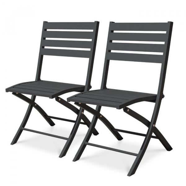 Lot de 2 Chaises de jardin Marius en aluminium Alumob
