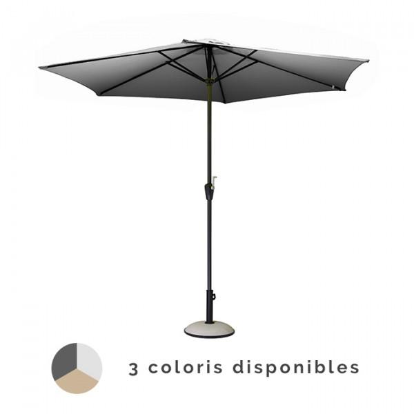 Parasol droit manivelle PROLOISIRS Ø 300 cm