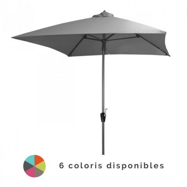 Parasol droit 2.5 x 2.5 m en aluminium ALIZE Manivelle