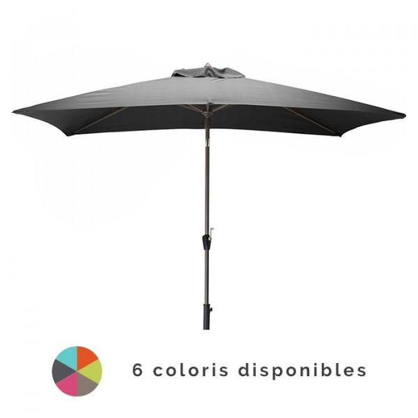 Parasol droit 3x2m en aluminium ALIZE Manivelle
