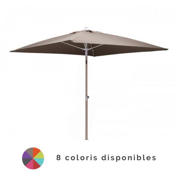 Parasol inclinable 2x2m en aluminium PROLOISIRS Fibre de Verre