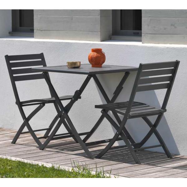salon de jardin marius en aluminium pour balcon ou. Black Bedroom Furniture Sets. Home Design Ideas