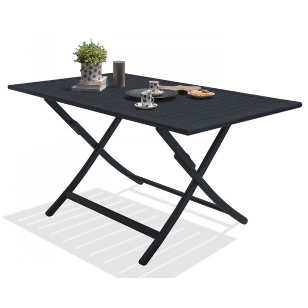 Table pliante MARIUS 140x80 cm en aluminium