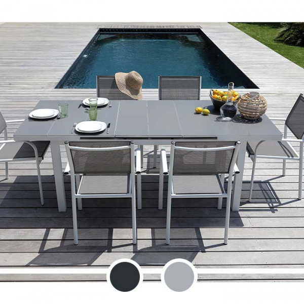 Table de jardin Alizé Ondine 160 / 213 cm