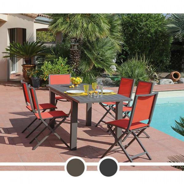 Table de jardin avec rallonge Elisa Proloisirs 140/200