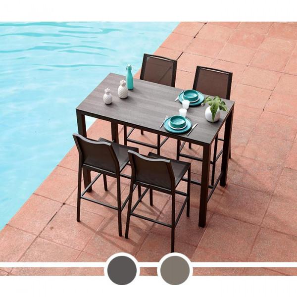 Table Mange Debout Stoneo Proloisirs 4-6 personnes 140 cm plateau Trespa