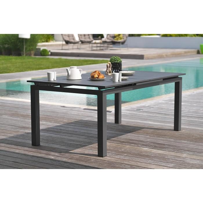 Table de jardin DCB Miami 180/240 x 100 cm