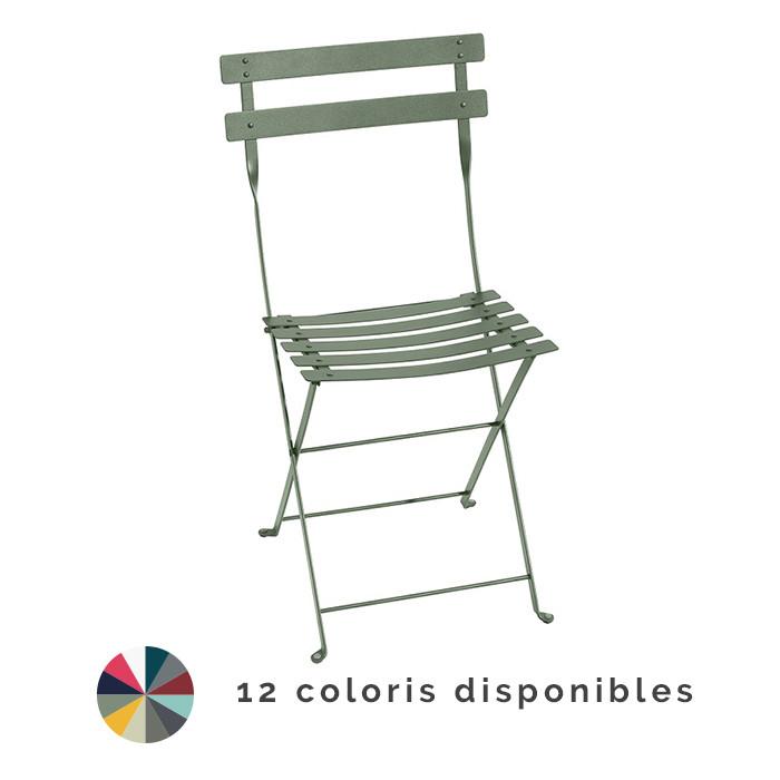 Chaise de jardin pliante FERMOB Bistro Métal