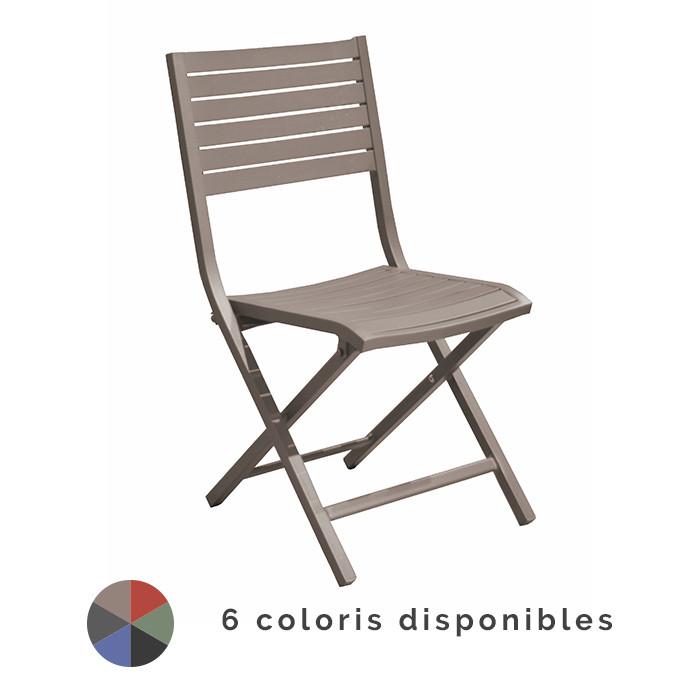 Chaise de jardin pliante PROLOISIRS Lucca | Raviday Jardin
