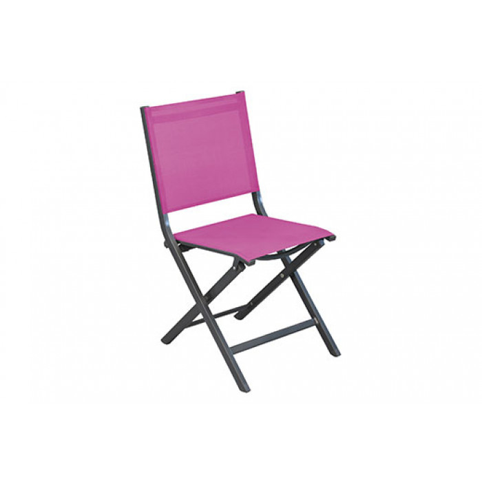 Salon de jardin Alizé Lorita 110 x 70 cm + 4 chaises Thema framboise ...