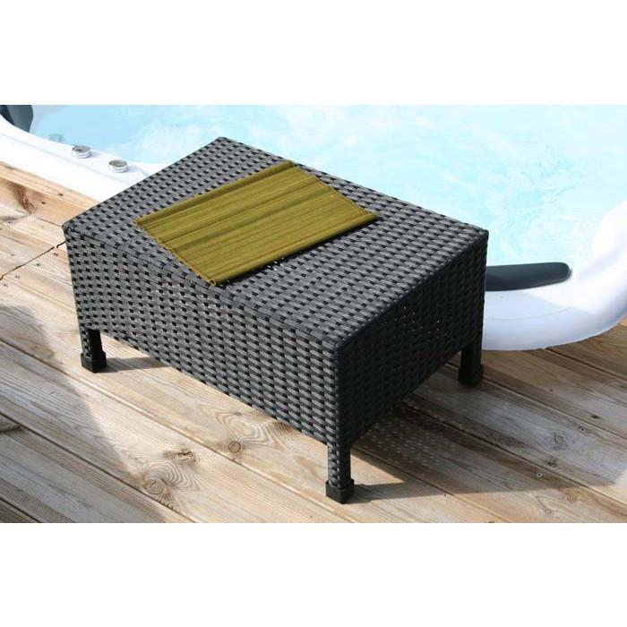 Table basse de jardin DCB résine tressée 40x60 | Raviday Jardin