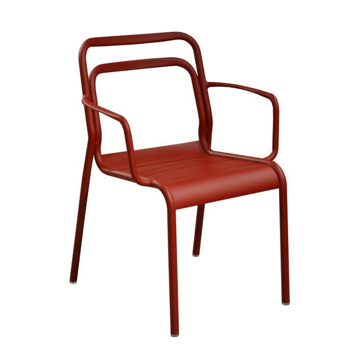 Salon de jardin PROLOISIRS Table Tempo 180/240 teck + 6 fauteuils ...