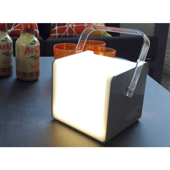 Lampe cube PROLOISIRS 120 lumens grise