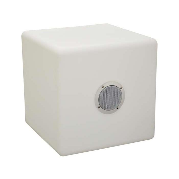 Lampe cube tabouret PROLOISIRS avec haut parleur
