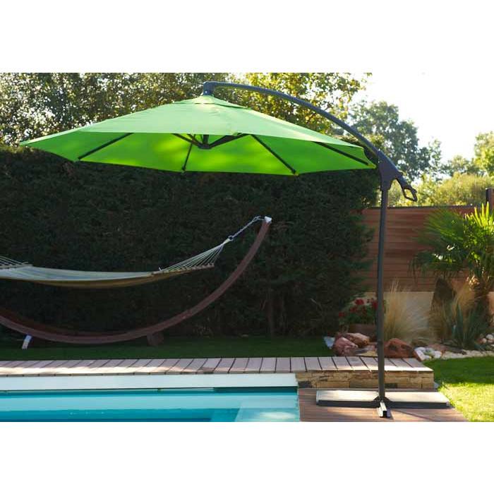 Parasol déporté Malaga DCB Garden ∅ 3m en aluminium | Raviday Jardin