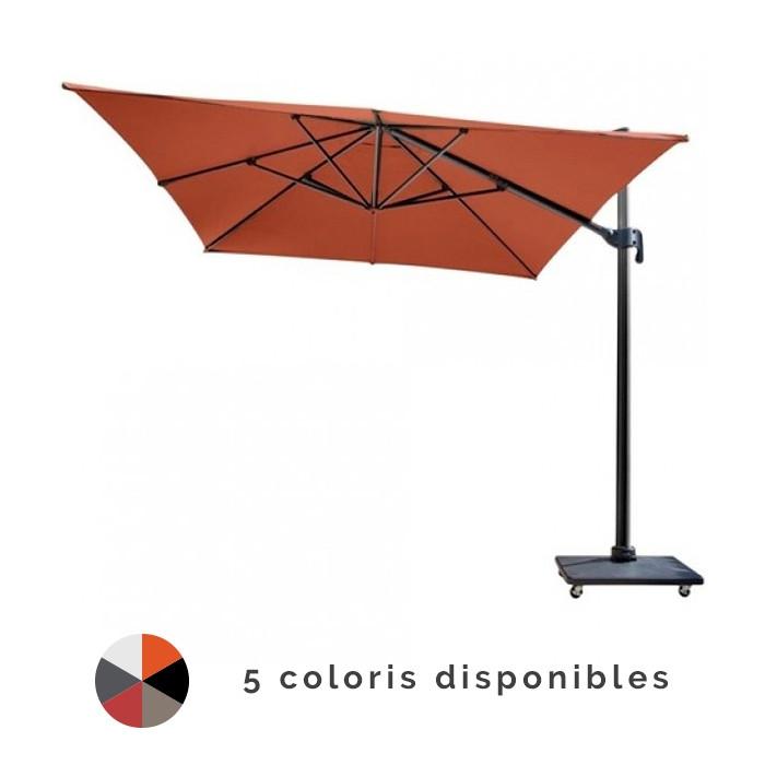 parasol d port 3x4 nh en aluminium proloisirs. Black Bedroom Furniture Sets. Home Design Ideas