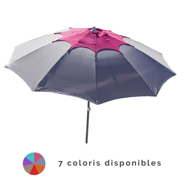Parasol rond inclinable PROLOISIRS Flower fibre de verre Ø 270