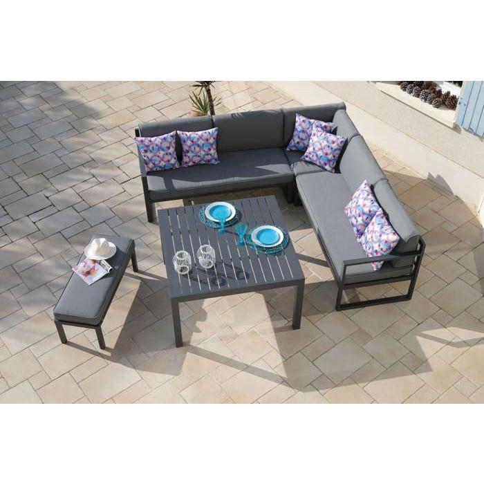 Salon de jardin bas PROLOISIRS Royan avec canapé d\'angle et ...