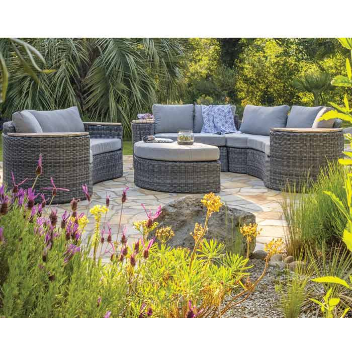 Salon de jardin bas modulable Nouméa DCB pour 8 personnes
