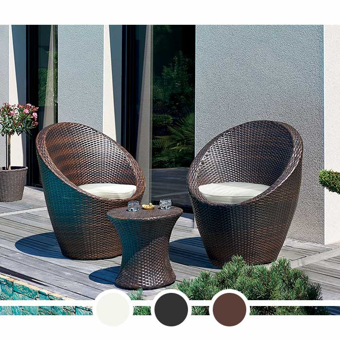 salon de jardin totem dcb 2 personnes en r sine tress e. Black Bedroom Furniture Sets. Home Design Ideas