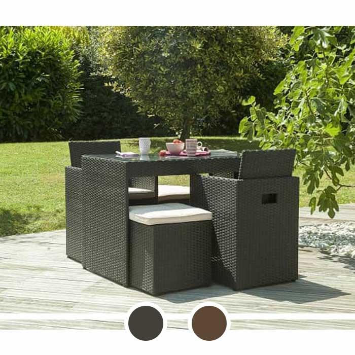 salon de jardin dcb encastrable plateau en verre 2. Black Bedroom Furniture Sets. Home Design Ideas