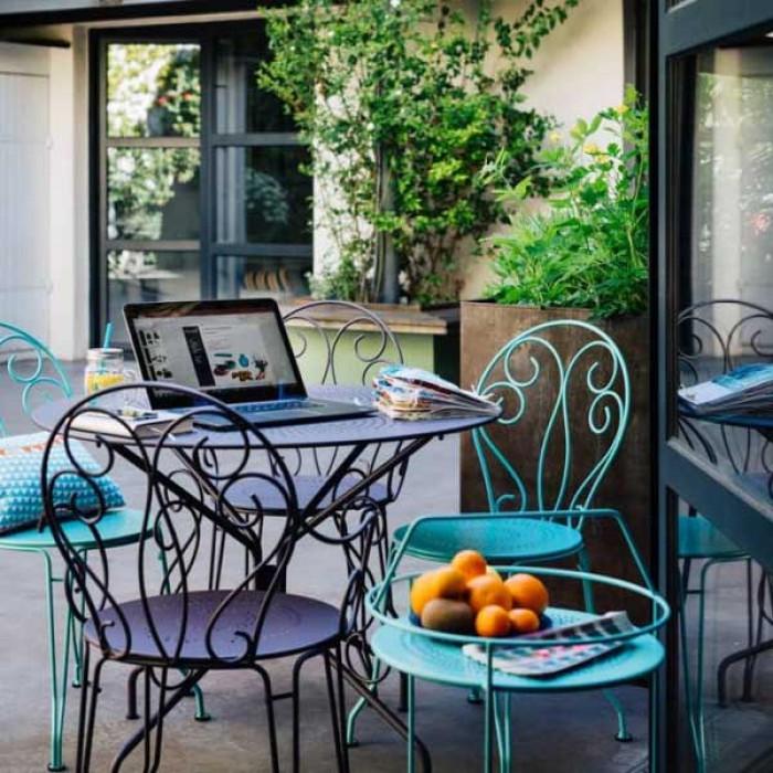 Salon de Jardin Fermob Montmartre Acier, 4 personnes