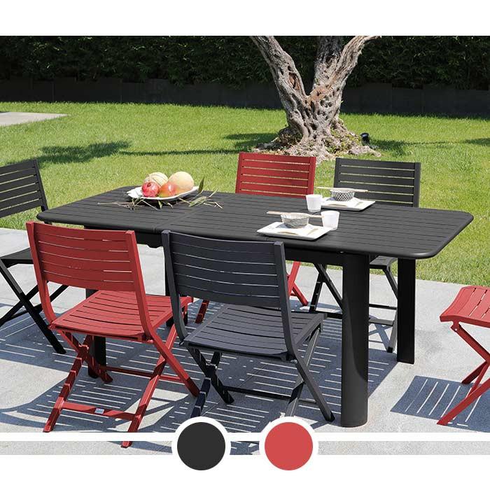 Table de jardin avec rallonge EOS PROLOISIRS 130/180