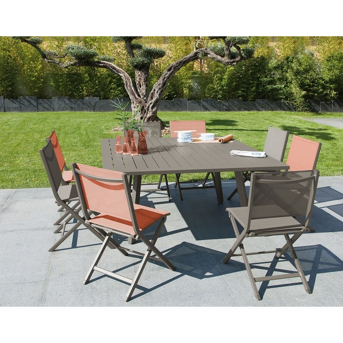 Ensemble Repas Table Barcelona 145 Caf 6 Chaises Thema Cafe PROLOISIRS