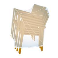 Housse pour 4 chaises empilables