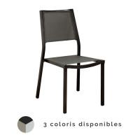 Chaise de jardin Florence en aluminium et finition brush - ALIZE