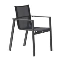 Lot de 2 fauteuils de jardin empilables DCB Miami