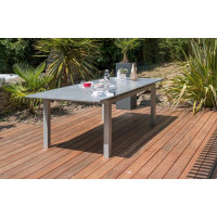 Table de jardin DCB Orlando 180/240 x 100 cm