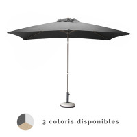 Parasol droit inclinable PROLOISIRS 3x2 m