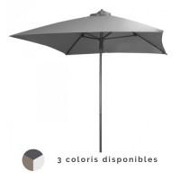 Parasol droit 2x2m en aluminium PROLOISIRS