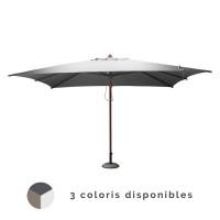 Parasol droit 3x4m en bois PROLOISIRS
