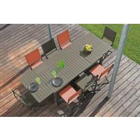 Salon de jardin Solem 268 Café + 6 Chaises Thema Oranges PROLOISIRS
