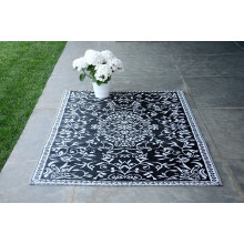 Tapis d'extérieur 120 x 180 cm Blanc & Noir Herstera Garden LYON